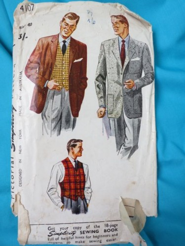 Simplicity 4107 - '50s mens jacket and vest