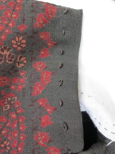 Hand-sewn hook loops