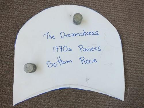 1770s panier bottom piece