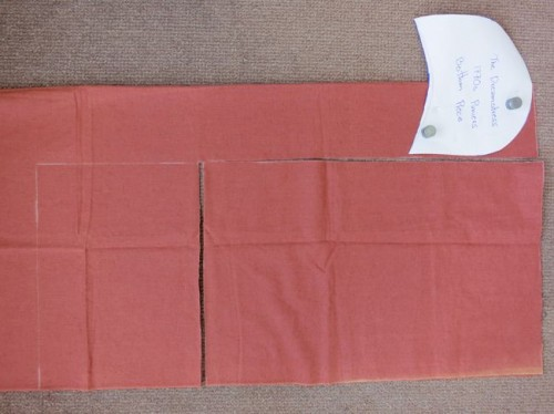 Cutting the two large rectangles