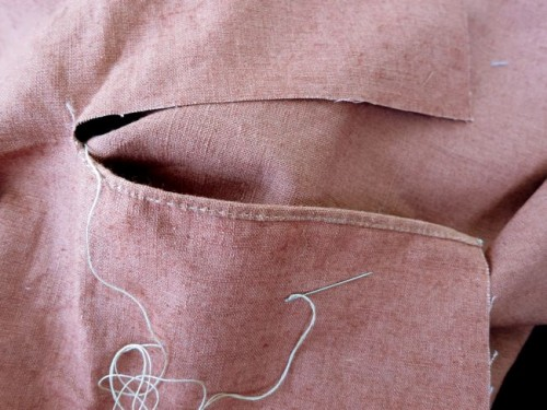 Hemming the slit