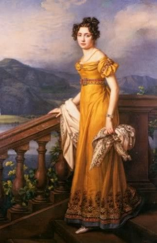 Amelie Augustes von Bayerne, Princess of Bavaria and Queen of Saxony by Joseph Karl Stieler, 1823