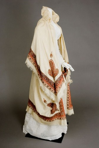 Kashmiri Embroidered Cloak, Early 19th C, sold at Augusta Auctions