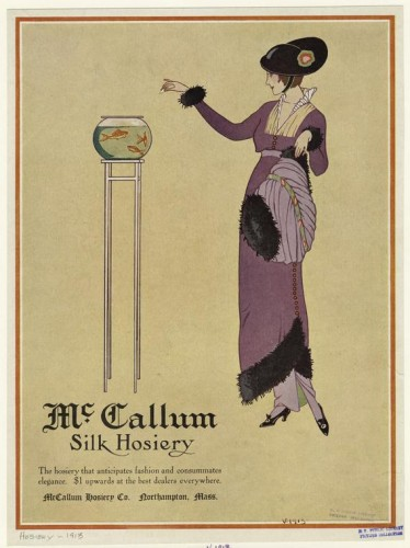 Advertisement for McCallum silk hosiery. 1913, NYPL