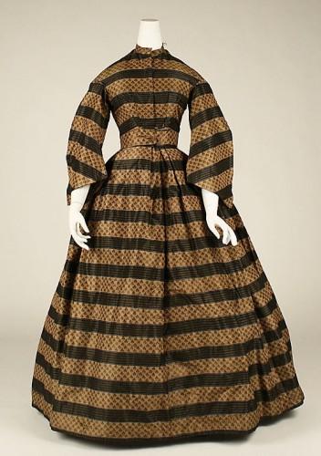 Morning dress, 1860-65, silk, American, Metropolitan Museum of Art