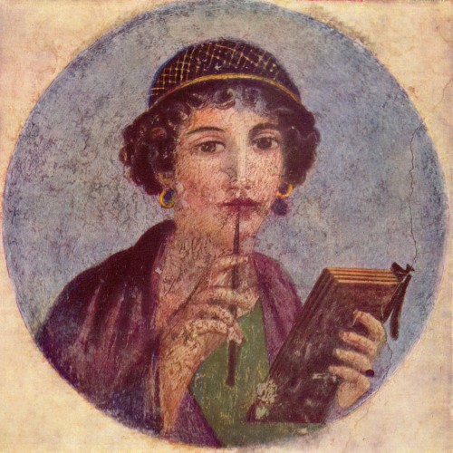 Pompeii fresco - Portrait of a Young Woman