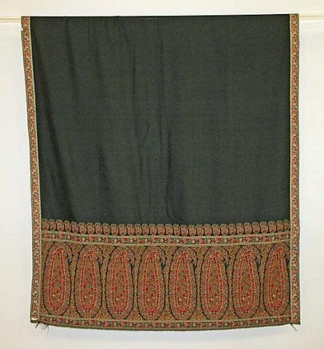 Shawl, 1815–20, European, silk, cotton, 108 x 48 in. (274.3 x 121.9 cm), Metropolitan Museum of Art