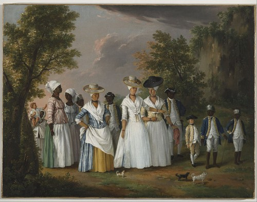 Agostino Brunias Italian, ca. 1730-1796 (Italian), Free Women of Color with their Children and Servants in a Landscape, between 1764-1796, Brooklyn Museum