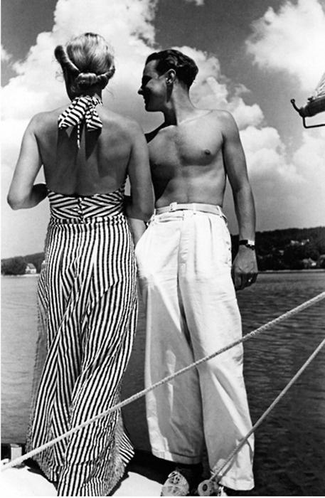 Beach pajamas for sailing, 1930s