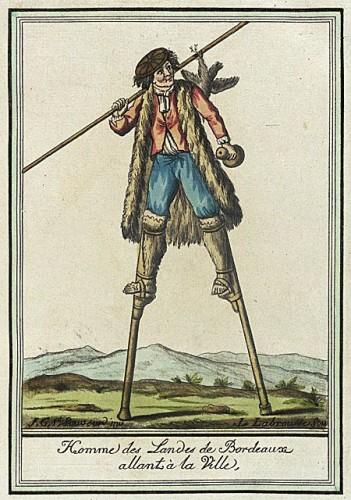 Costumes de Différent Pays, 'Homme des Landes de Bordeaux Allant à la Ville' Labrousse circa 1797