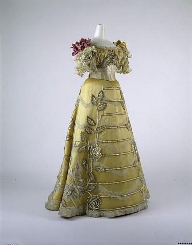 Dress, Evening Duval and Eagan (American), ca. 1889, Metropolitan Museum of Art