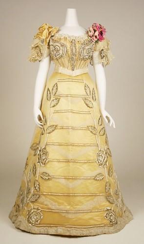 Dress, Evening Duval and Eagan (American), ca. 1889, silk Met