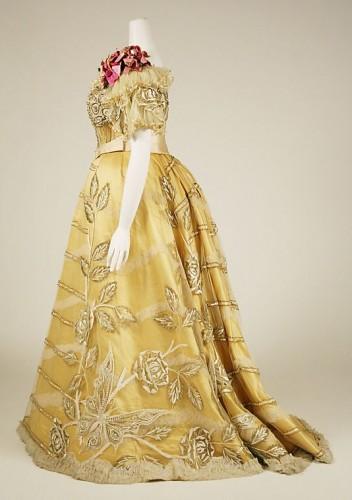 Dress, Evening Duval and Eagan, silk, ca. 1889, Metropolitan Museum of Art