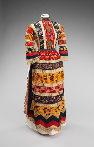 Ensemble, Mrs. Samuel Shimn, 1888, American, cotton, linen, silk, Metropolitan Museum of Art