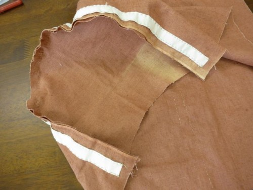 With the bottom completely sewn on