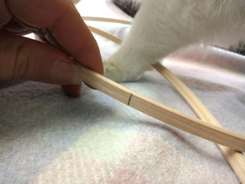 Marking my cane hooping (with bonus Felicity leg)