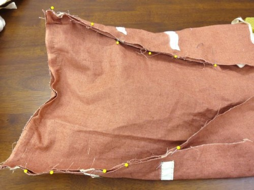 The panier inside piece pinned to the panier side piece at both sides