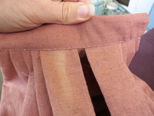 Waist channel topstitched in place