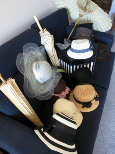 How many hats do two girls need for a three-day weekend?  This should do.