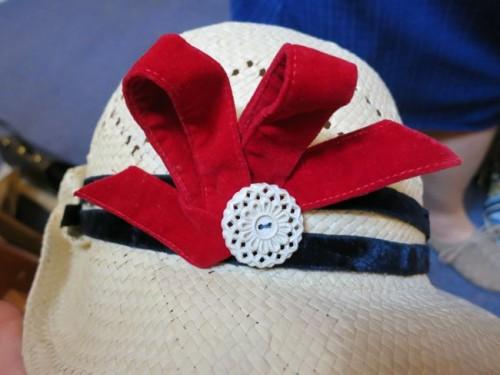 Trimmed hat