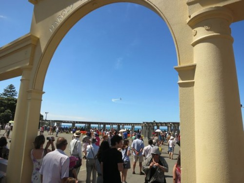 The fly overs and the crowd