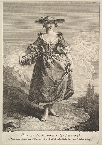 Peasant Woman from Around Ferrara Edme Jeaurat (French, Vermenton 1688–1738 Paris) Artist- After François Boucher (French, Paris 1703–1770 Paris), 1734, Met