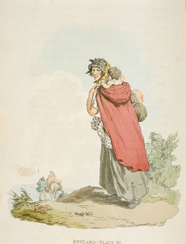 'Country Woman' in Picturesque Representations of the Dress and Manners of the English, Murray, Mr John, W. Bulmer & Co, Manchester City Galleries