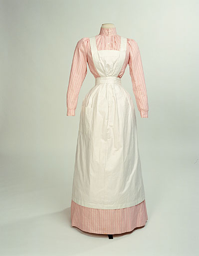 Cook's dress: blouse & skirt with apron. 1890-1910, Manchester City Galleries