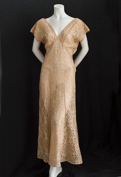1930s lace dress, Vintage Textile