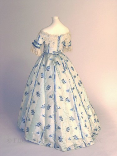 Dress with day and evening bodices, 1853-54. FIDM Museum