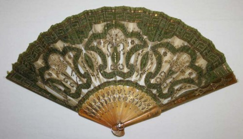 Fan, 1850–60, American (probably), silk, tortoiseshell, Metropolitan Museum of Art