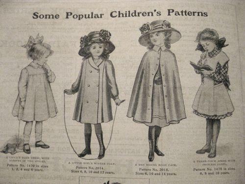 Children's fashions, Girls Own Paper, 1911