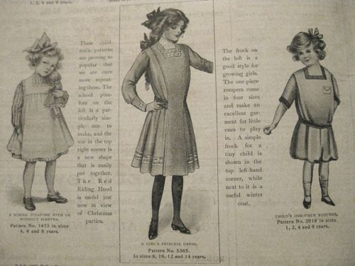 Children's fashions, Girls Own Paper, 1911