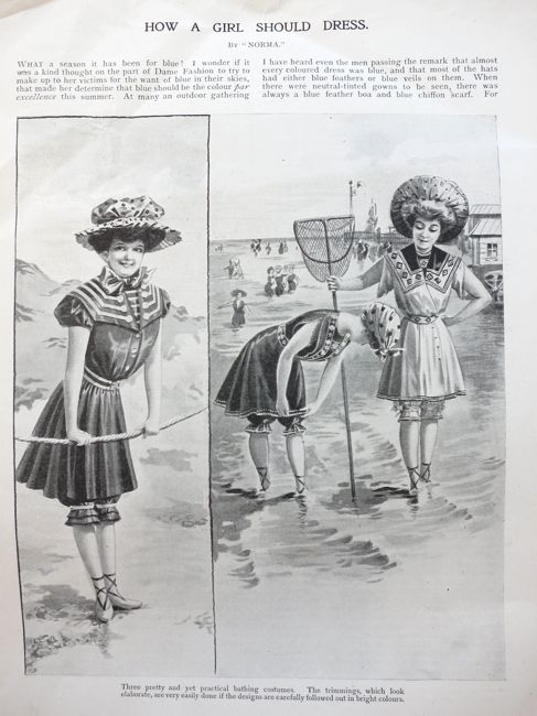 What to wear by the sea, 1906, Girls Own Paper