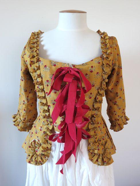 1770's Indienne silk pet-en-l'aire