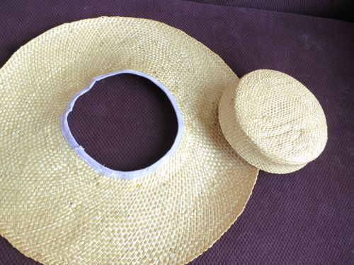 Inner brim edge bound with bias tape