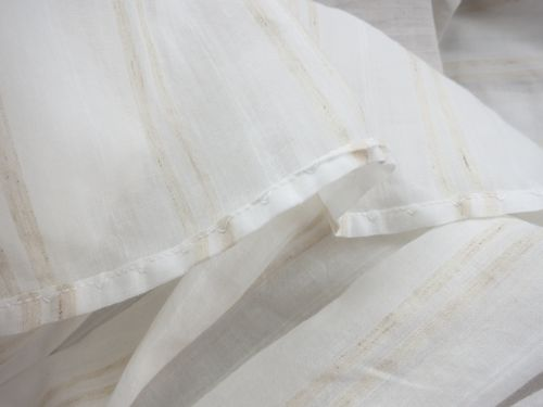 The wrong side of the blind-hem stitched ruffle