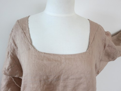 Patches to narrow the neckline