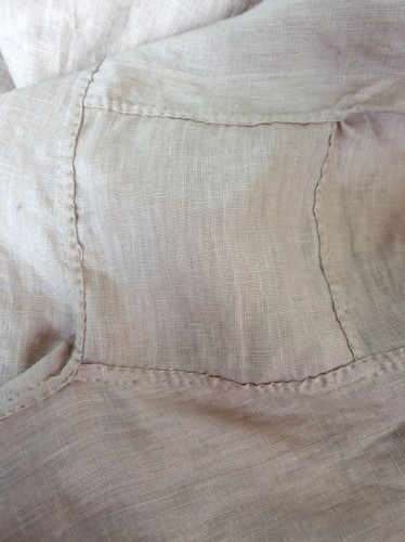 Hand-sewn underarm gussets