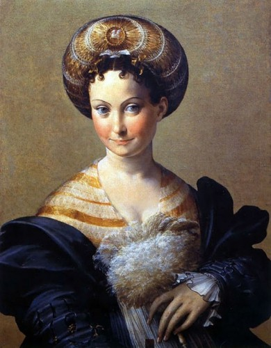 Parmigianino- A Turkish Slave (aka, Portrait of a Young Woman) (ca. 1533)