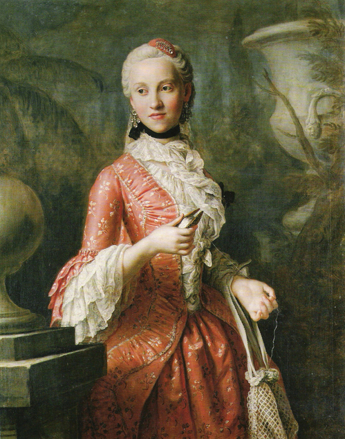 Pietro Rotari (1707–1762) Portrait of Marie Kunigunde of Saxony (1740-1826), Abbess of Thorn and Essen, daughter of Augustus III of Poland, circa 1755