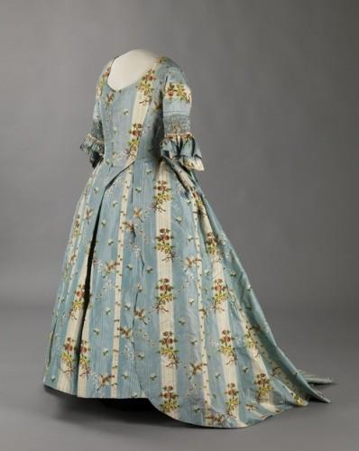 Robe a la francaise, ca. 1770's, Digitalt Museum