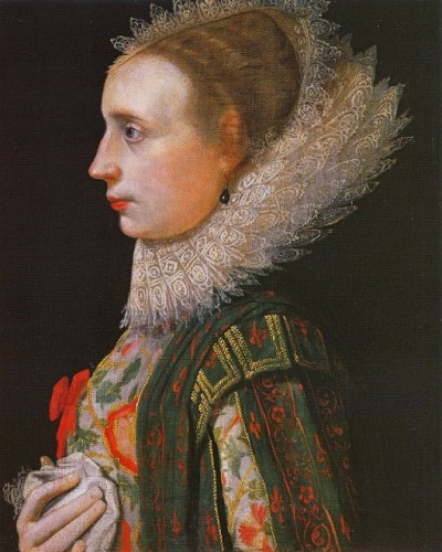 Unknown lady, 1620, by Nathaniel Bacon (English painter, 1585–1627)