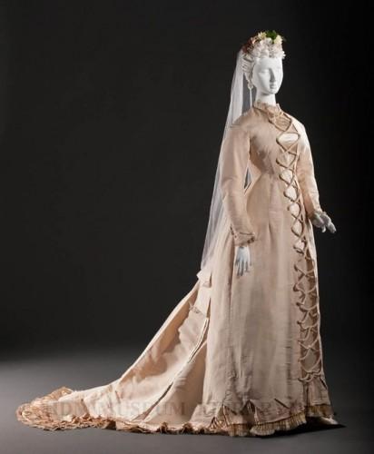 Wedding Gown c. 1878, FIDM