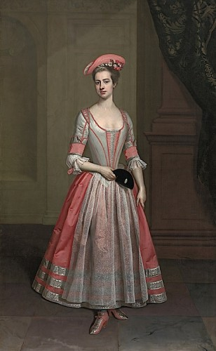 ca. 1720 Henrietta Hobart, The Hon. Mrs Howard, later Countess of Suffolk, in a masquerade dress, attributed to Thomas Gibson, Blickling Hall - Blickling, North Norfolk UK