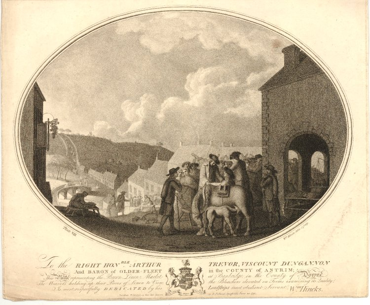 The Brown Linen Market at Banbridge, in the County of Downe, 1791, The British Museum