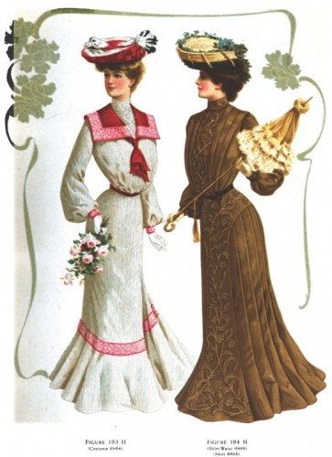 Summer frocks, 1903 Delineator