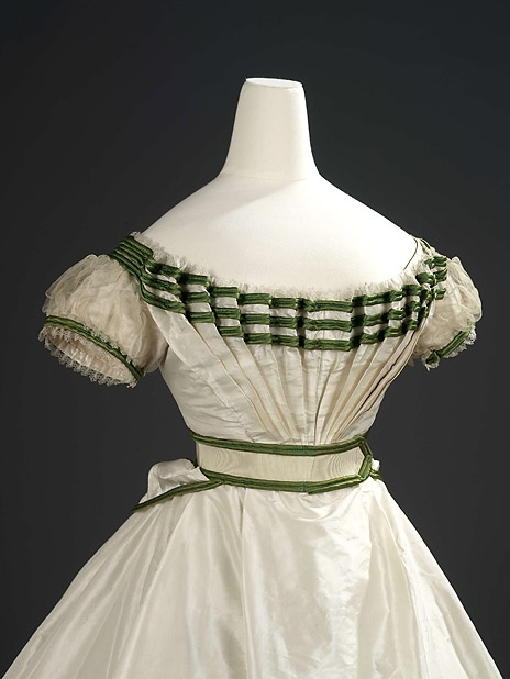 Girl's Formal Evening Dress with Sash. Charles Frederick Worth, Paris, 1867, Royal Ontario Museum