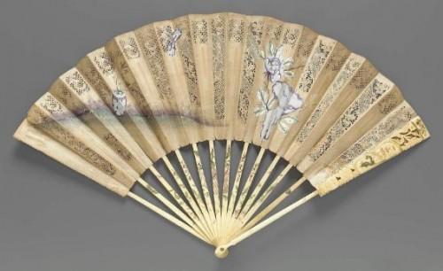 Cut or découpé fan, Dutch, About 1760–75, MFA Boston