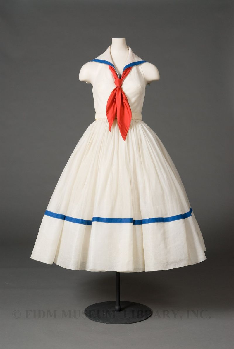 Day dress, Norman Norell for Traina-Norell, 1951, FIDM Museum